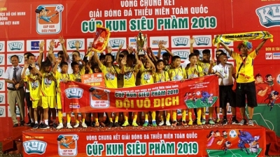 Nghe An win back-to-back title at National Youth Football Championship