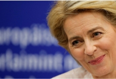 Von der Leyen becomes first female EU executive chief with narrow win
