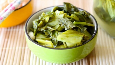 Pickled mustard greens – a popular side dish of Vietnamese people