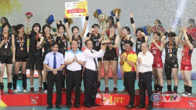 Japanese volleyball club beat Vietnam 3-1 to win VTV Cup