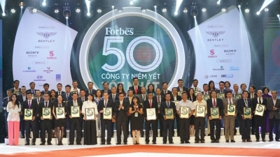 Forbes honoured top 50 listed Vietnamese companies