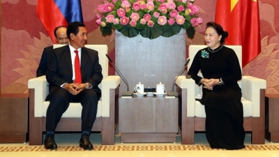 NA Chairwoman receives Lao National Assembly Vice President