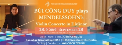September 23-29: Concert with Bui Cong Duy and Mendelssohn's Violin Concerto