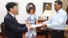 Vietnamese Ambassador presents credentials to President of Seychelles