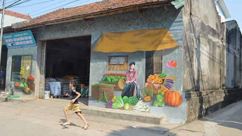 Chu Xa mural painting village: A new destination for visitors to Hanoi