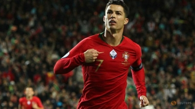 Ronaldo bags hat-trick, closes on 100 in Portugal rout