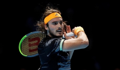 Tsitsipas eclipses Federer to reach ATP Finals title match