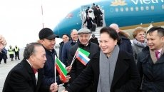 NA Chairwoman arrives in Kazan, begining Russia visit