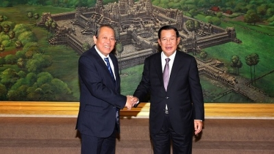 Deputy PM Truong Hoa Binh meets with Cambodian leaders