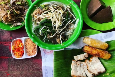 Bun nuoc leo, a specialty of Tra Vinh's Khmer ethic group