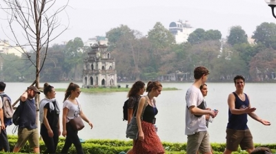 Number of tourists to Hanoi increases again