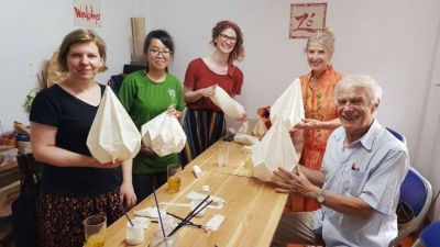 March 9-15: Workshop on Origami Lantern in Hanoi