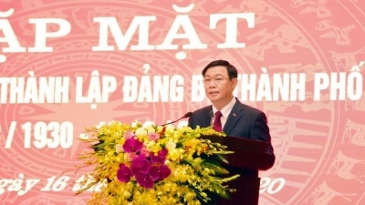 Meeting marks Hanoi municipal Party Committee's 90th founding anniversary