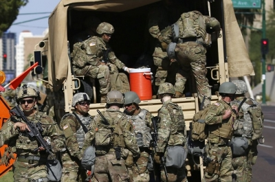 Pentagon moves about 1,600 Army troops into the Washington region