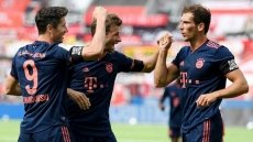 Bayern crush Leverkusen to stay firmly on title course