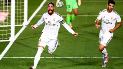 Real Madrid close on title as Ramos late show sinks Getafe