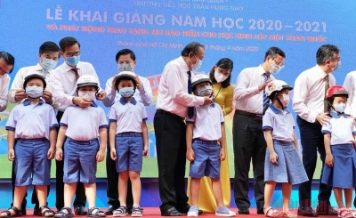 Deputy PM attends school opening ceremony at Tran Hung Dao Primary School