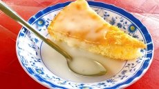 Coconut milk custard cake