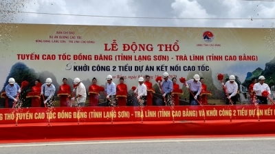 Work begins on VND21 trillion Dong Dang - Tra Linh Highway