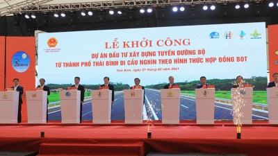 Thai Binh starts construction of VND2.5 trillion road