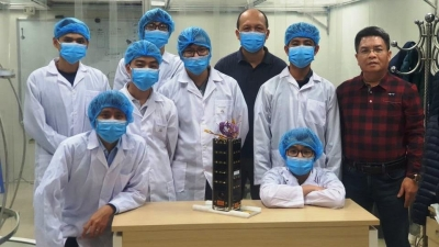 Vietnam sends locally made satellite to Japan for testing