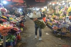 Hanoi's famous flower market bustling for March 8