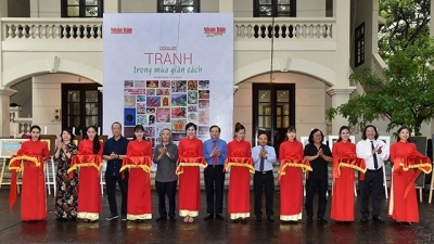 Artists congratulate Nhan Dan Newspaper on its first issue's 70th anniversary