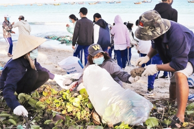 Fishing villagers go green