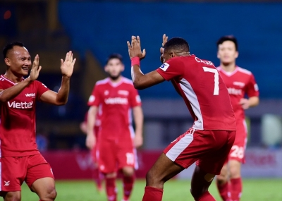Title holders Viettel FC rout Quang Ninh Coal to extend winning streak