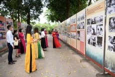 Exhibition on studying and following President Ho's example opens in Hanoi