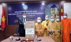 Vietnam Buddhist Sangha presents medical equipment to India