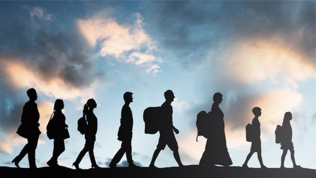 Migration wave due to climate change