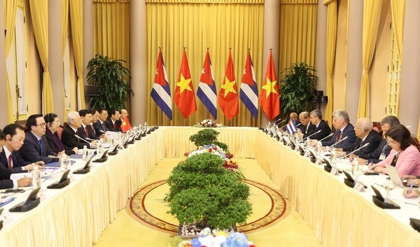Leaders agree to raise Vietnam-Cuba trade to US$500 million by 2022